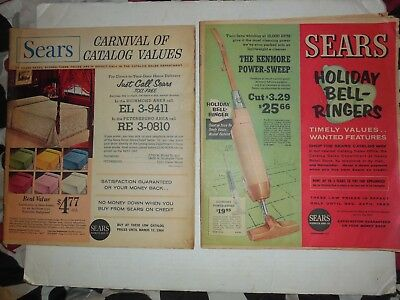 Sears Roebuck Christmas Catalog 1962  & MARCH 1964 CARNIVAL VINTAGE COLLECT SALE
