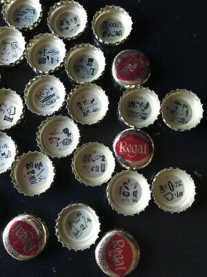 34 REGAL Brewing Beer Bottle Caps Silver Beer Stein Rebus Puzzles