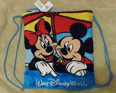 Nwt Walt Disney World Beach Towel In A Bag Mickey Minnie Donald Goofy L@@k