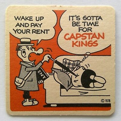 Capstan Kings Andy Capp Wake Up And Pay Your Rent 1976 Coaster (B327-10)