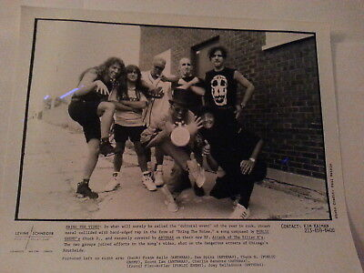 PUBLIC ENEMY & ANTHRAX 1990's black and white promotional photo 8X10