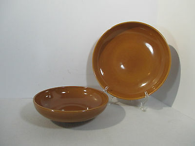 Russel Wright Vegetable Bowls Ripe Apricot Iroquois Mid Century Design Set of 2