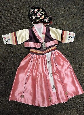 Handmade Korean Kids Child 1st Birthday Hanbok Traditional Dress