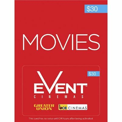 Event Cinemas Gift Card $30