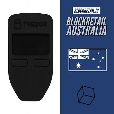 OFFICIAL TREZOR BITCOIN Wallet - BLACK - BTC, ERC20, XRP - CRYPTOCURRENCY 🌟