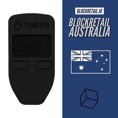 Trezor Cryptocurrency Wallet - Black - Authorised Seller - FREE Shipping