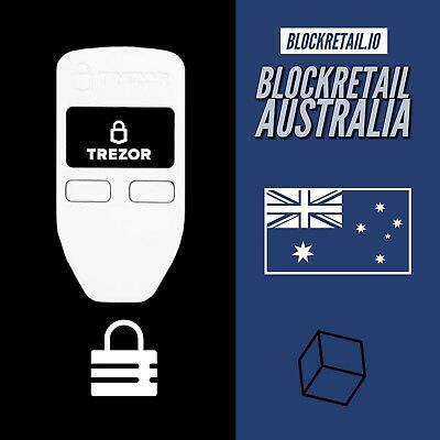 TREZOR BITCOIN Wallet - WHITE - BTC, ERC20 - Cryptocurrency Bitcoin Xrp Eth 🌟