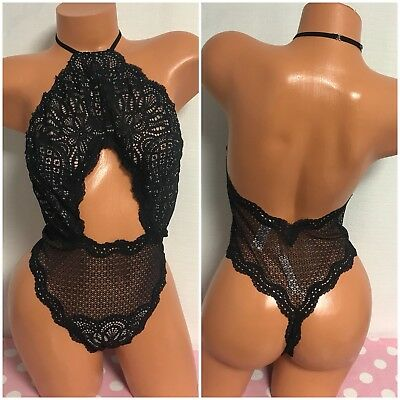 NWT Victoria's Secret Sexy Thong Lace Teddy Lingerie Size Large