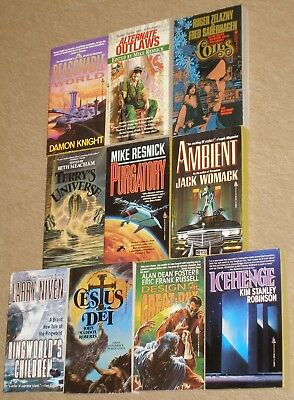 Lot of 10~TOR BOOKS~Vintage Science Fiction pbs 1982-2005 EXCOND!