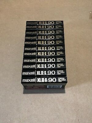 Set of 11 New Sealed Maxell XLII-S 90 Cassette Tape Made in Japan