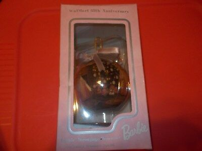 BARBIE 35th ANNIVERSARY WALMART ORNAMENT WITH STAND NIB NEVER OPENED