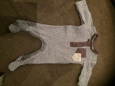 Bebe Baby Boy Size 0000 Grey All In One