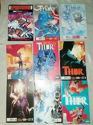 Thor 2-8 Complete Set Annual 1 Previews 700! NM 2015 Jane foster