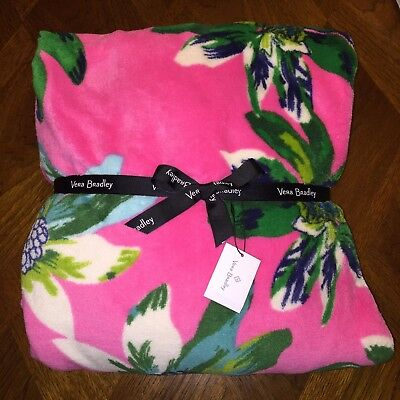 NWT Vera Bradley Throw Blanket Tropical Paradise