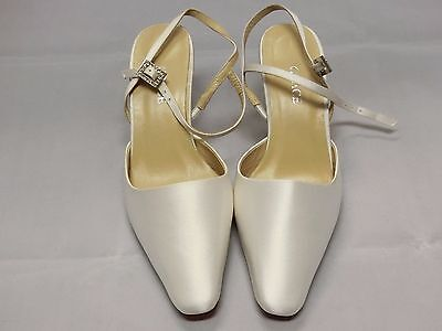 Grace Ivory White Satin Bridal Shoes Woman Size 5B