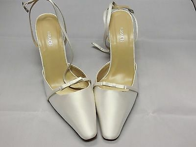 Grace White Satin Bridal Shoes Woman Size 10B