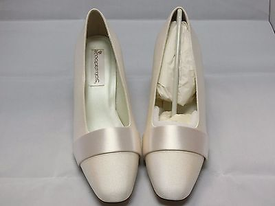 Coloriffics Rose Ivory Satin Bridal Shoes Woman Size 11M
