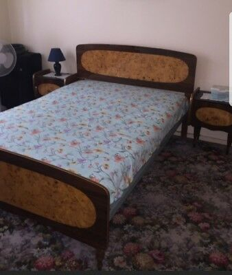 Antique retro bed