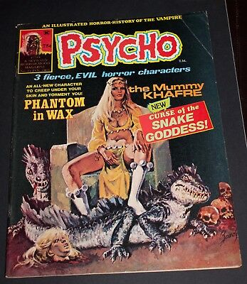 Psycho #23 5.0  Decapitated Head/skull Cover! Skywald Horror-Mood