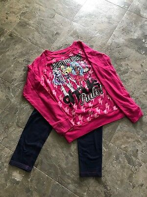 Monster High Girls 2 piece outfit Size XL(14-16) .