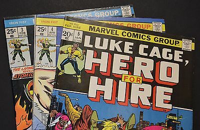 HOT Vintage Lot (of 3 books) LUKE CAGE & IRON FIST - ALL 3 BOOKS OVER 40 YRS OLD