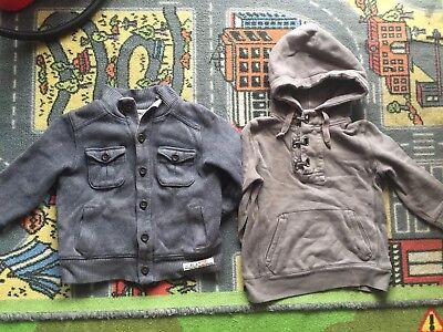 Boys Country Road Cardigan And Witchery Hoodie, Size 3