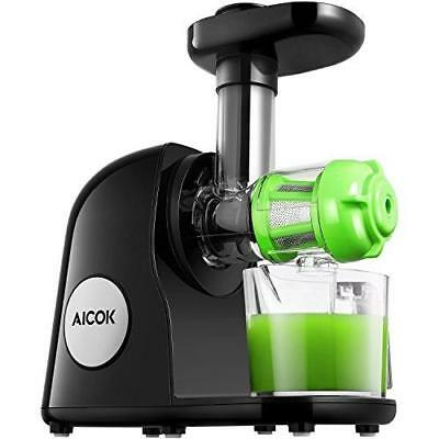 Aicok Juicer Slow Masticating Juicer Extractor, Cold Press Juicer Machine, Quiet