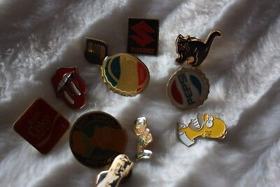 lot de pins anciens suzuki johnny Hallyday , simpson , pepsi etc