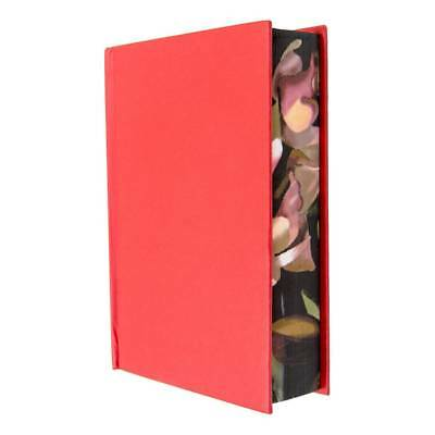 Very Thick Blank Journal Small Size A6, Floral Surrounded Red Hardcover Notebook