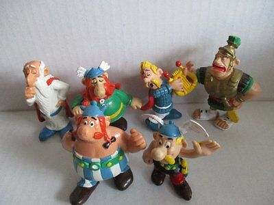 6 Comicfiguren ASTERIX COMICS SPAIN 1984 Figuren PVC Figures