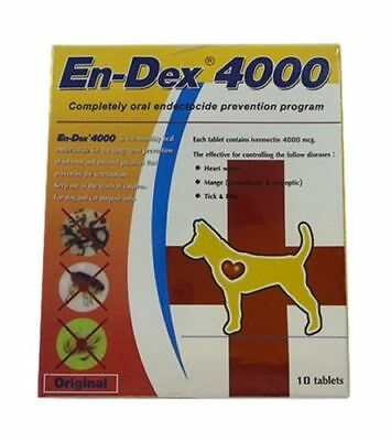 EnDex4000 Pet Tablet Pill for Remove Prevent Ticks and Fleas For Dog Cat