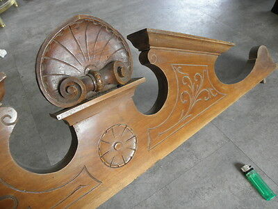 French Antique Louis XVI Style Solid wooden Wood Crest Pediment Crown old
