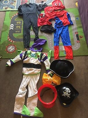 Boys Costumes, Buzz Lightyear, Spiderman, Pirate Hats..., Size 3