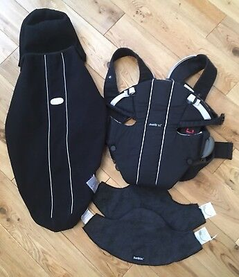 Baby Bjorn Original Baby Carrier, with fleece cover and two bibs