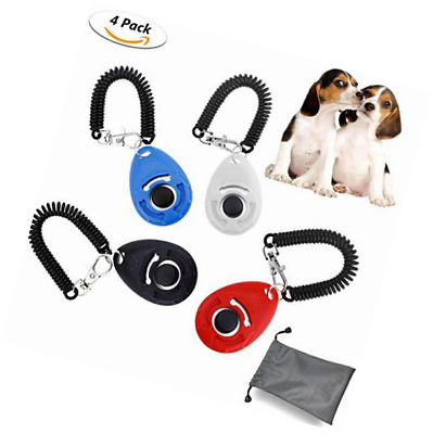 WisFox Pet Dog Training Clicker Big Button clicker with wrist band Strip