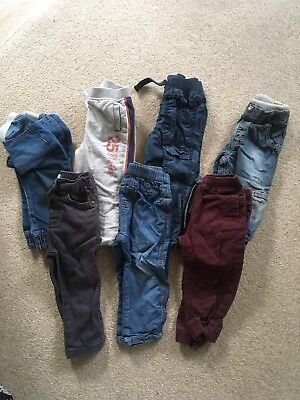 7 Pairs Of Boys Trousers 12-18 Months