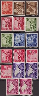India Abroad 1943 Azad Hind Selection 17 Perf & Imperf UM