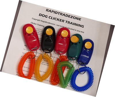 5 Pack - Pet Dog Puppy Training Clickers - each