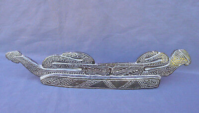 Old Totemic Ebony Hand Carved Wood Trobriand Islands Carving Sea Snakes