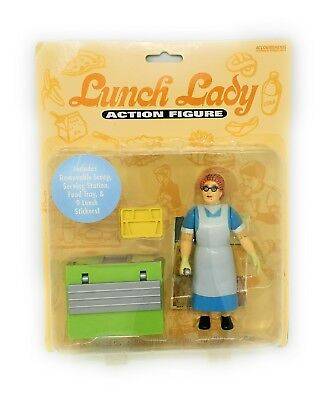 Lunch Lady Action Figure Serving Station Toy Figurine