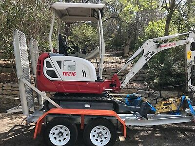 2015 Takeuchi TB216 Excavator Package With New Plant Trailer.