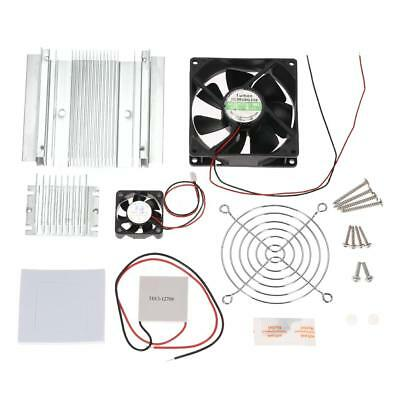 DIY Thermoelectric Peltier Refrigeration Cooling System Kit Doule Cooling Fan