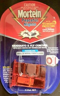 Mortein Peaceful Nights Automatic Plug In Refill  up to 45 nights  NEW & SEALED