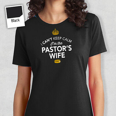 Pastor's Wife To Be T Shirt Bridal Gift Present Hen Do Wedding Party