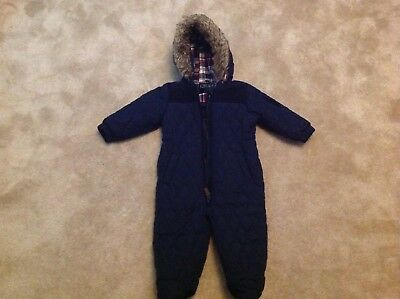 Next- boys navy snowsuit 9-12 months never worn