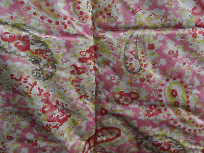 SWEET VINTAGE  EIDERDOWN ROSE & PAISLEY DOUBLE 42 inch x 60 inch