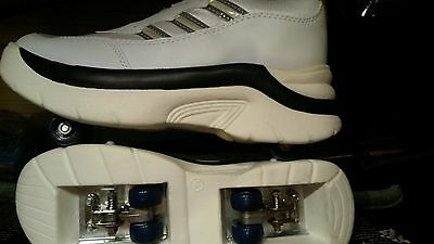 WHITE ROLLER TRAINERS UK 6  x 5 PAIRS JOB LOT