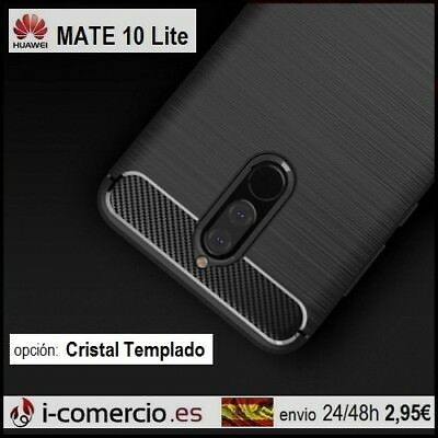 Funda Carcasa TPU Carbono Carbon Tough Rugged Slim Case Huawei Mate 10 Lite