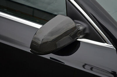 Carbon Fibre Wing Mirror Trim Set Covers To Fit Audi A5 (2010-16)