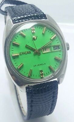 Genuine Vintage Enicar Automatic Day & Date 25J Wrist Watch For Men's Swiss Made
